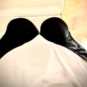 Victoria's Secret Black Strapless Push-up